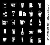 drink icons on black background ... | Shutterstock .eps vector #182232170