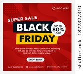 black friday event banners ... | Shutterstock .eps vector #1822327310