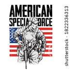 illustration of american... | Shutterstock .eps vector #1822336313