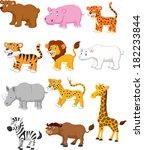 wild animal cartoon   Shutterstock .eps vector #182233844