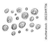 set of hand drawn design...   Shutterstock .eps vector #1822349756