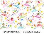 happy birthday. seamless... | Shutterstock . vector #1822364669