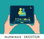 technology design over blue... | Shutterstock .eps vector #182237228