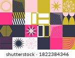 neo modernism artwork pattern... | Shutterstock .eps vector #1822384346