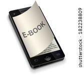 3d smartphone e book concept... | Shutterstock .eps vector #182238809