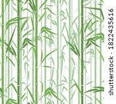 bamboo forest. monochrome... | Shutterstock .eps vector #1822435616