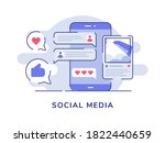 social media concept picture...   Shutterstock .eps vector #1822440659