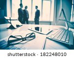 modern devices  documents ... | Shutterstock . vector #182248010