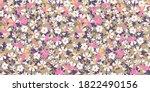 delicate flowery pattern....   Shutterstock .eps vector #1822490156