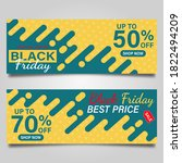 black friday banner design...   Shutterstock .eps vector #1822494209