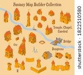 map builder illusrations for... | Shutterstock .eps vector #1822510580