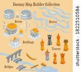 map builder illusrations for... | Shutterstock .eps vector #1822510586