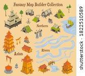 map builder illusrations for... | Shutterstock .eps vector #1822510589