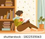 autumn mood vector flat... | Shutterstock .eps vector #1822535063