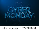 cyber monday sale banner. low... | Shutterstock .eps vector #1822600883