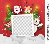origami paper art of blank... | Shutterstock .eps vector #1822632953