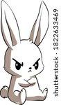 Cute Angru Bunny Vector Art
