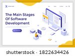 landing page template with... | Shutterstock .eps vector #1822634426