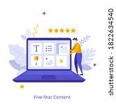man organizing digital elements ...   Shutterstock .eps vector #1822634540