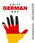 german unity day. celebrated...   Shutterstock .eps vector #1822660109