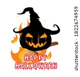halloween banner or card with... | Shutterstock .eps vector #1822674959