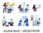 set of business people concepts.... | Shutterstock .eps vector #1822676930
