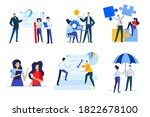 set of business people concepts.... | Shutterstock .eps vector #1822678100