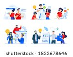 set of business people concepts.... | Shutterstock .eps vector #1822678646