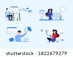 set of business people concepts.... | Shutterstock .eps vector #1822679279