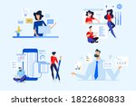 set of business people concepts.... | Shutterstock .eps vector #1822680833