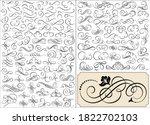 set of calligraphic elements... | Shutterstock .eps vector #1822702103