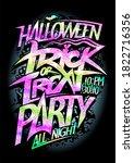 halloween trick or treat party... | Shutterstock . vector #1822716356