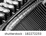 black and white close up view... | Shutterstock . vector #182272253