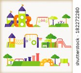 set of playground | Shutterstock .eps vector #182272280
