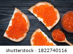 Salmon Red Caviar. Red Fish...