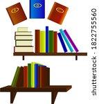 set of vector images of books... | Shutterstock .eps vector #1822755560