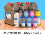 set of colored graphics toner...   Shutterstock . vector #1822771313