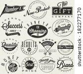 set of symbols for best quality ... | Shutterstock .eps vector #182277170