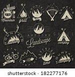 retro vintage style symbols for ... | Shutterstock .eps vector #182277176