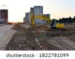 Excavator During Excavation At...