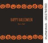 halloween greeting card. design ... | Shutterstock .eps vector #1822783583