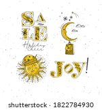 merry christmas elements... | Shutterstock .eps vector #1822784930