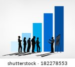 silhouette of business... | Shutterstock . vector #182278553