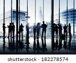 silhouettes of multi ethnic... | Shutterstock . vector #182278574