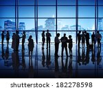 silhouette of business people... | Shutterstock . vector #182278598