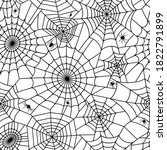 seamless pattern with spider... | Shutterstock .eps vector #1822791899