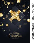 merry christmas background with ... | Shutterstock .eps vector #1822792700