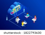 e learning  online education at ... | Shutterstock .eps vector #1822793630