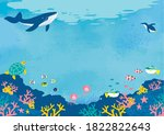 Vector Illustration Of Seabed...
