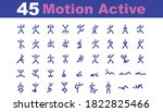 45 icon motion active for any... | Shutterstock .eps vector #1822825466